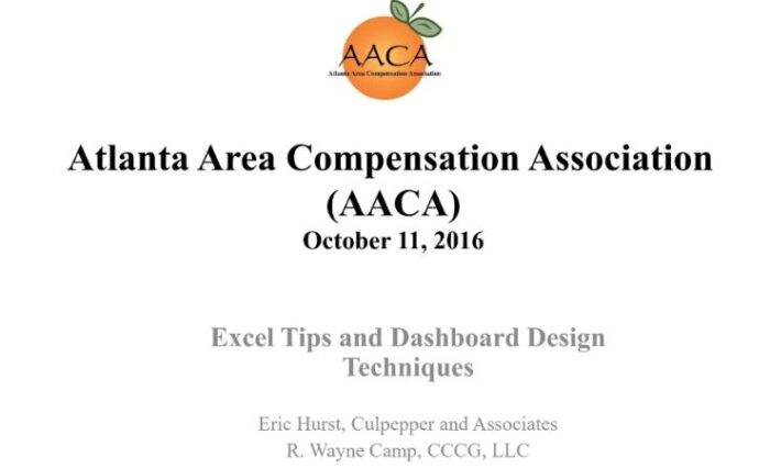 2016 excel tips and dashboard design techniques